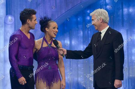 Laura Hamilton with Dancing partner Colin Ratushniak, presenter Phillip Schofield.