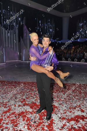 Sam Attwater with Dancing partner Brianne Delcourt.   Laura Hamilton with Dancing partner Colin Ratushniak.