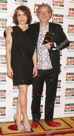 Noomi Rapace and Soren Staermose (collected Best Thriller Award for Girl with the Dragon Tattoo)