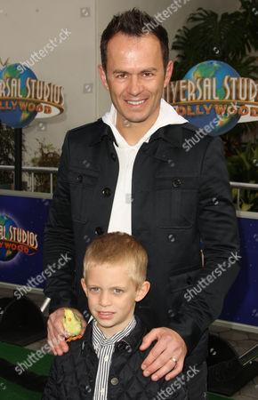 Greg Ellis and son Charlie