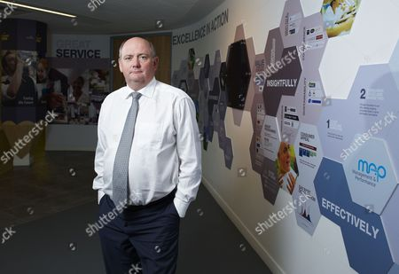 Stock Picture of Richard Cousins, CEO of Compass Group, at the company headquarters in Chertsey, Britain