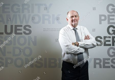 Richard Cousins, CEO of Compass Group, at the company headquarters in Chertsey, Britain