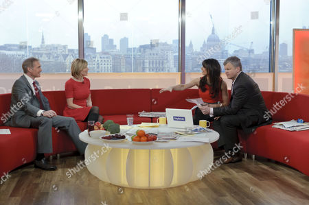 Dr. Hilary Jones and Amanda Ursell with Adrian Chiles and Christine Bleakley