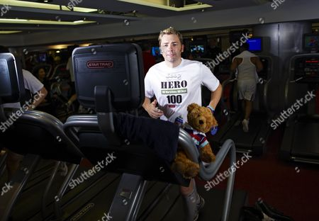 Mike Buss during his attempt to run 100 marathons in 100 days, London, Britain