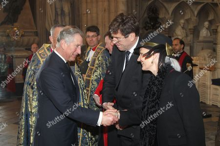 Prince Charles meets the partner of His Excellency Derek Leask, High Commissioner for New Zealand