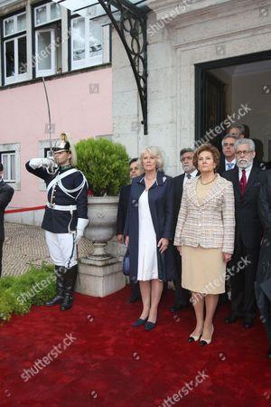 Camilla Duchess of Cornwall and Maria Alves da Silva