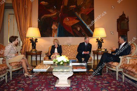 Maria Alves da Silva, Camilla Duchess of Cornwall, Prince Charles and Anibal Cavaco Silva