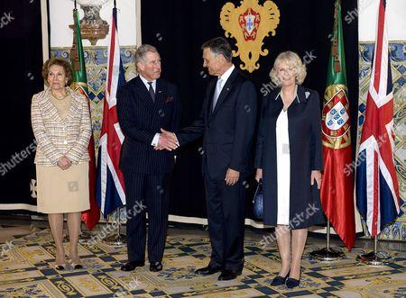 Maria Alves da Silva, Prince Charles, Anibal Cavaco Silva and Camilla Duchess of Cornwall