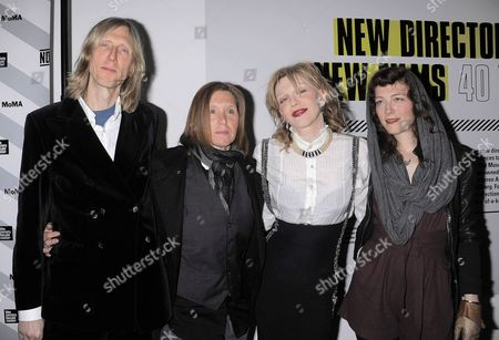 Eric Erlandson, Patty Schemel, Courtney Love and Melissa auf der Maur