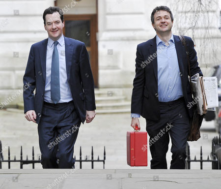George Osborne MP with Rupert Harrison his Chief of Staff