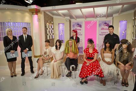 Jamie Stevens and Jayne Lewis-Orr with Romy, Brad and the models.