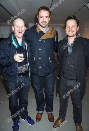 Stock Photo of Steve Furst, Jamie Theakston and Jonathan Yeo