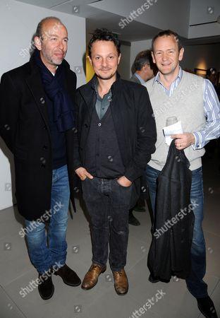 Eric Fellner, Jonathan Yeo and Alexander Armstrong