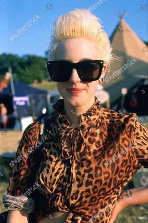 Beth Jeans Houghton at the Glastonbury Festival, Britain