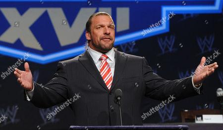 Editorial photo of WrestleMania XXVII Press Conference, New York, America - 30 Mar 2011