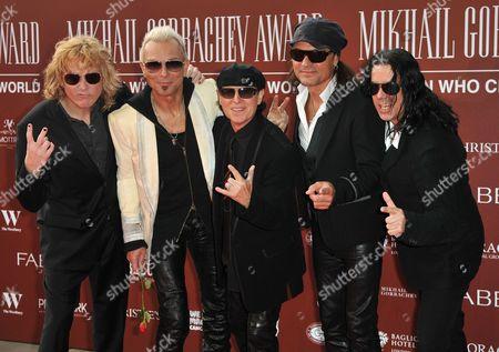 The Scorpions - James Kottak, Rudolf Schenker, Klaus Meine, Matthias Jabs and Pawel Maciwoda