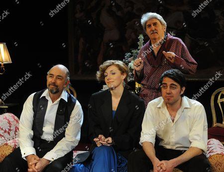 Richard Schiff (Bebe), Natalie Walter (Liz), Tom Conti (Theo), Josh Cohen (Mike)
