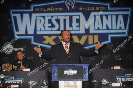 Editorial picture of WrestleMania XXVII Press Conference, New York, America - 30 Mar 2011