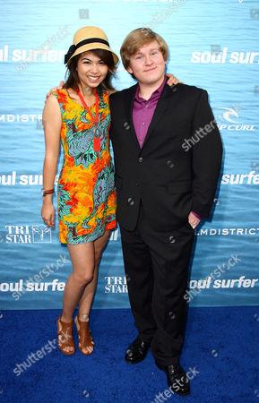 Stock Photo of Hayley Kiyoko and Doug Brochu