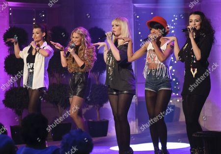 Parade - Lauren Deegan, Jessica Agombar, Emily Biggs, Bianca Claxton and Sian Charlesworth.