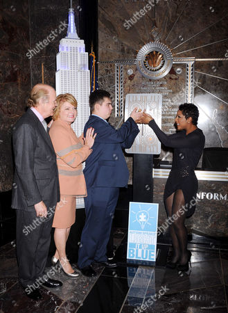 Bob Wright and Suzanne Wright,  co-founders of Autism Speaks with guest and Toni Braxton