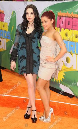 Stock Photo of Elizabeth Gilles and Ariana Grande