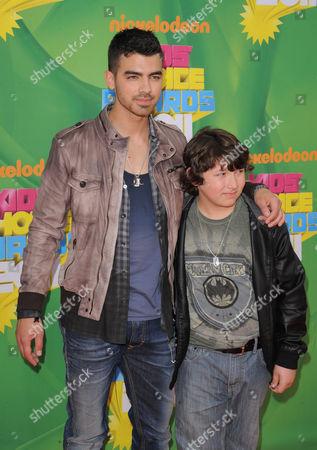 Stock Photo of Joe Jonas and Frankie Jonas
