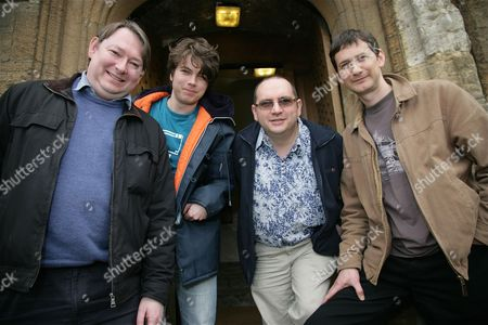 Stock Image of Justin Richards, Oli Smith, Colin Drake and Trevor Baxendale - Dr Who writers