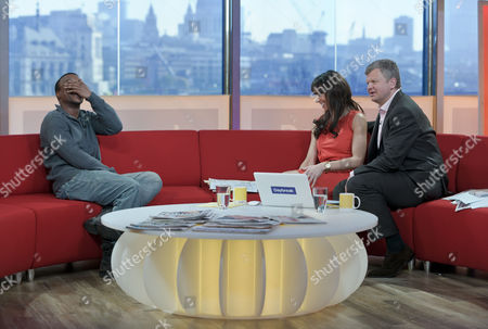 Ashley Waters with Adrian Chiles and Christine Bleakley