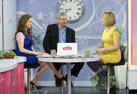 Martell Maxwell and Kevin Maguire with Kate Garraway