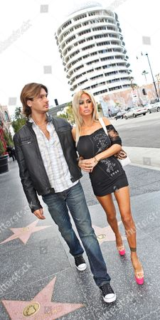 Editorial photo of Shauna Sand and Laurent Homburger out and about in Los Angeles, America - 03 Apr 2011
