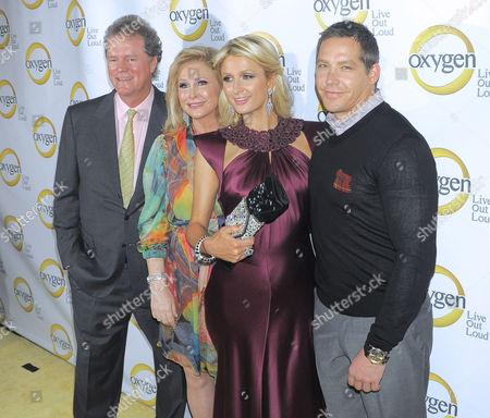 Richard Hilton, Kathy Hilton, Paris Hilton, and Cy Waits