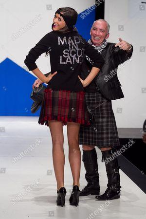 Stock Photo of Miss Scotland Nicola Mimnagh on catwalk