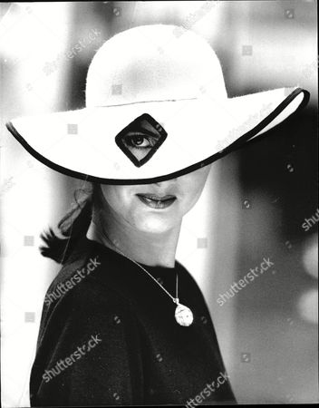 Women Hat Fashions 1987 Katherine Pearce Wears 'diamond Eye' Hat