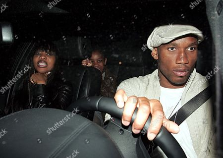 Stock Photo of Didier Drogba (R), Diakite Lalla and family