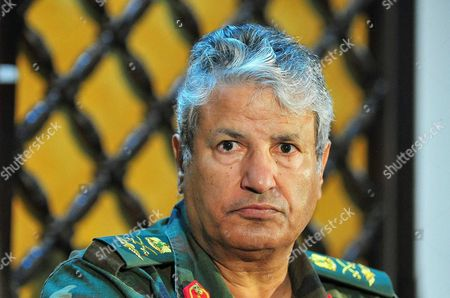 Editorial picture of General Abdel Fattah Younes news conference, Benghazi, Libya - 05 Apr 2011