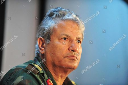 Stock Photo of General Abdel Fattah Younes, Senior military officer, head of the rebel forces fighting Gaddafi