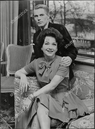 Singer And Actor Adam Faith With Actress Anne Baxter