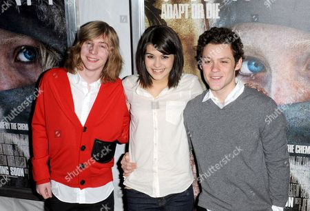 Danny Flaherty and Sofia Black D'Elia and James Newman