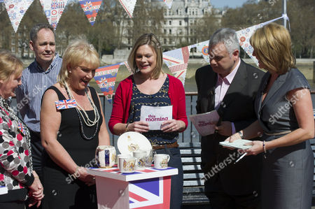 Stock Picture of Kate Bliss with Eamonn Holmes and Ruth Langsford.