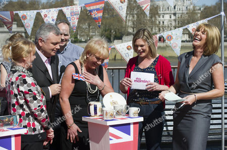 Stock Image of Kate Bliss with Eamonn Holmes and Ruth Langsford.