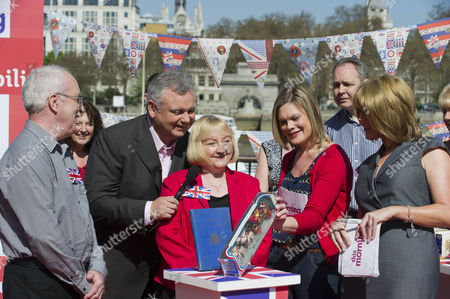Kate Bliss with Eamonn Holmes and Ruth Langsford.