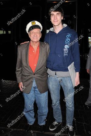 Hugh Hefner and Marston Hefner