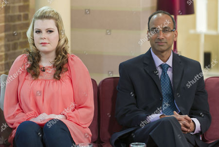 Stock Photo of Beckie Garton and Dr Venkatraman Ramakrishnan