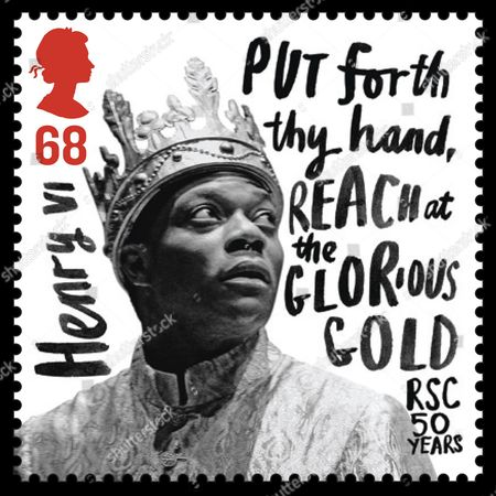 Stamp featuring Chuk Iwuji as Henry VI in the 2006 production