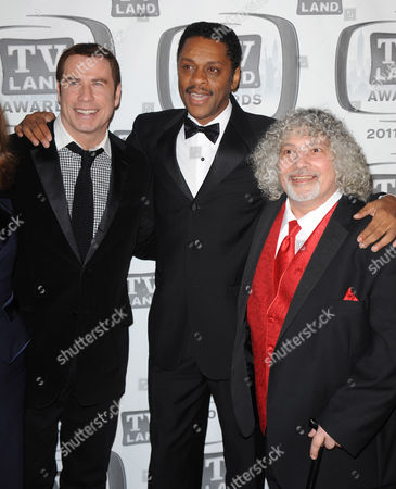 Stock Picture of John Travolta and Lawrence Hilton Jacobs and Robert Hegyes