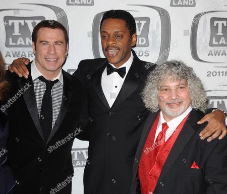 John Travolta and Lawrence Hilton Jacobs and Robert Hegyes