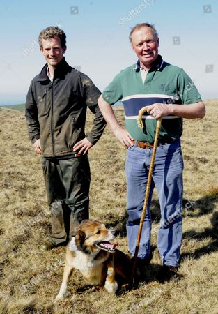 Farmer John Heard and son James. England, Britain.