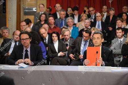 Frederic Lefebvre and Nicolas Sarkozy