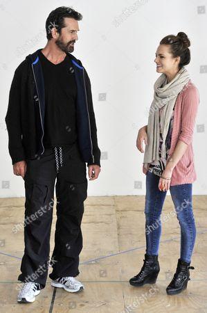 Rupert Everett (Professor Higgins) and Kara Tointon (Eliza Dolittle)